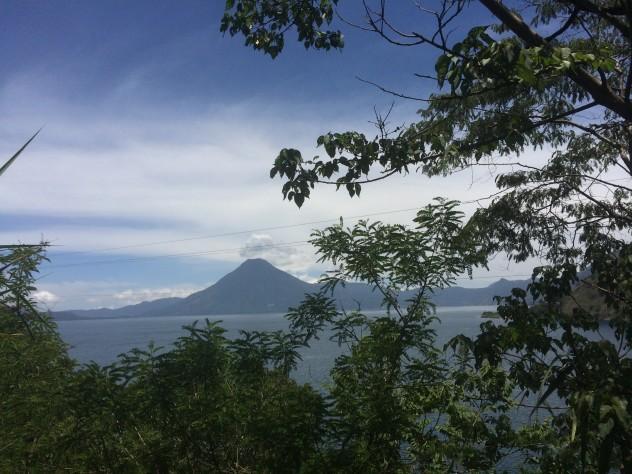 My view of the volcano from Panajachel.
