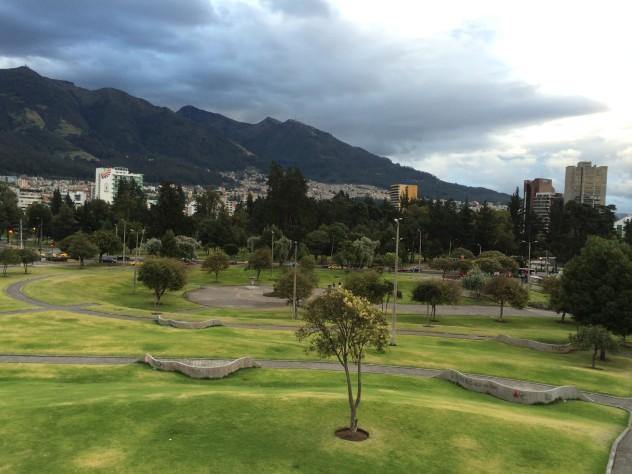 Parque El Ejido, from the top of the giant sphere.