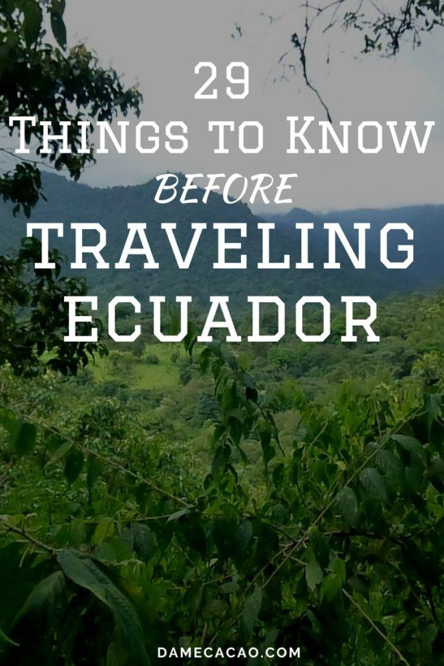 After three months living in Quito and traveling the country on the weekends, I've collected a tip or two (dozen) for first-time visitors to Ecuador. These are some of the mistakes you'll be glad you avoided! | #travel #ecuador #south #america #quito #unique #things #to #do #know #before #go #what #traveling #backpack #backpacking #cuenca #guyaquil #mindo #montanita
