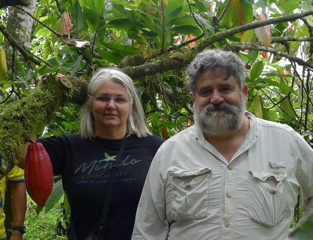 Jose and his wife Barbara; the pwer couple behind Mindo Chocolate. Photo courtesy of Mindo Chocolate.