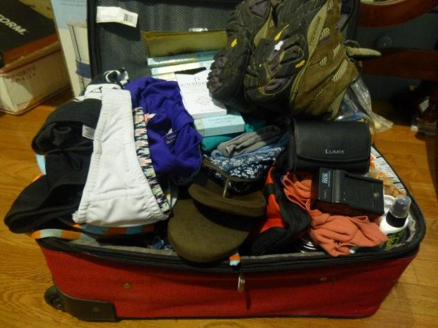 All the stuff that's going in my pack.