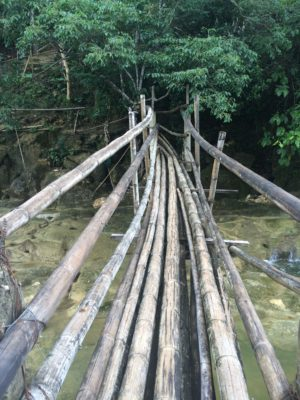 Bohol Island Tour Philippines Bamboo Bridge