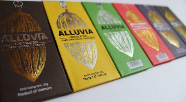 Saigon Vietnam Chocolate Guide Alluvia Chocolatier Chocolate Bars: Every single delicious chocolate shop in Saigon, Vietnam, packed into one post, PLUS one to avoid! This is your comprehensive guide to Vietnam's fast-growing craft chocolate scene. #ho #chi #minh #min #city #hcmc #saigon #vietnam #travel #wanderlust #foodie #chocolate #cacao #cocoa #local #must #eat #dessert #cafes #restaurants