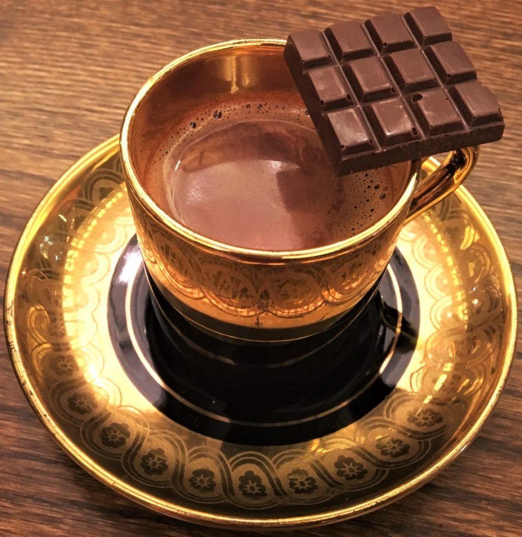 Drinking chocolate from Hocada Coco in Hongcheon, South Korea