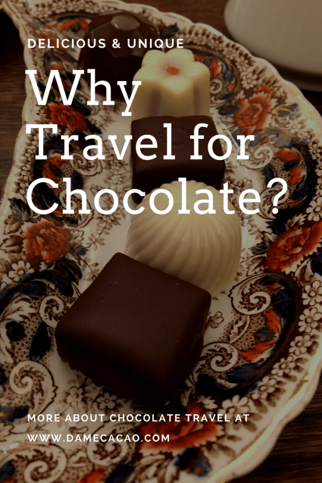 Finding amazing chocolate in surprising places is reason enough to travel. But chocolate is so much more all-consuming than the sugar-high you get from eating Cadbury Cream Eggs in England. Chocolate travel is a trip with an impact. Learn more about how at damecacao.com. | #travel #chocolate #chocolat #why #asia #africa #america #unique trip #ideas #around #the #world #rtw #europe #cacao #cocoa #plantations #farms #carribean #makers #factories #factory #foodie #food