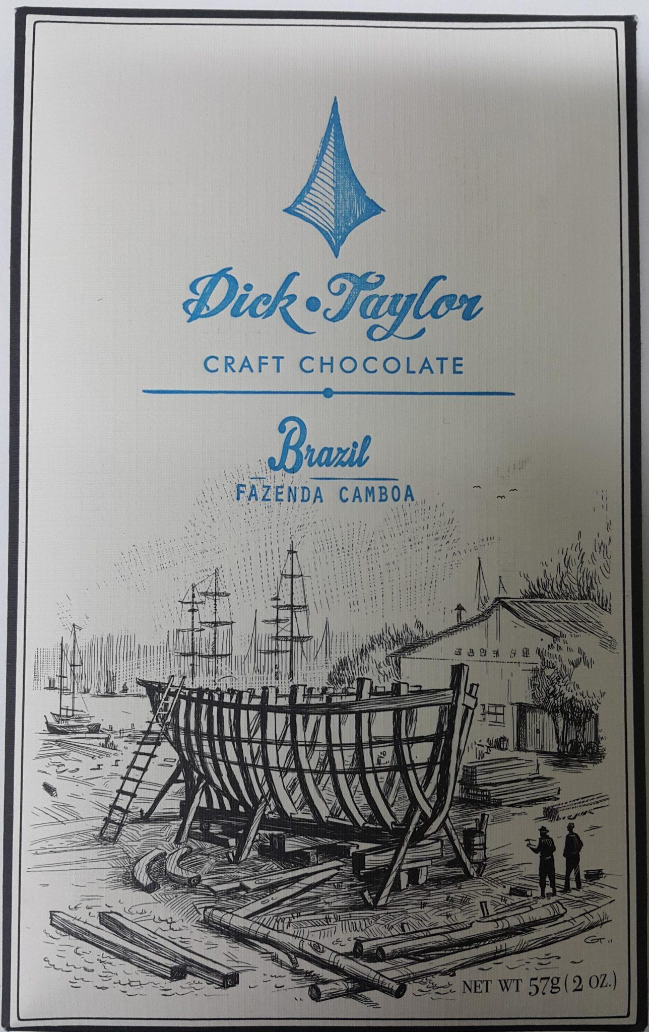 dick taylor brazil fazenda camboa 75% front of bar packaging