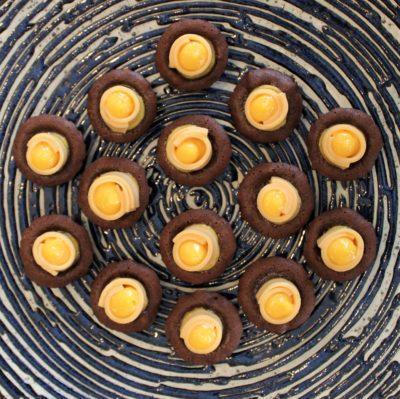 sukhothai lobby salon chocolate buffet orange desserts plate
