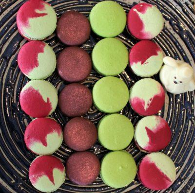sukhothai lobby salon chocolate buffet macarons plate