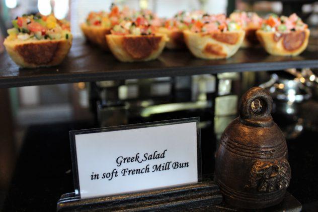 sukhothai lobby salon chocolate buffet greek salad bites plate