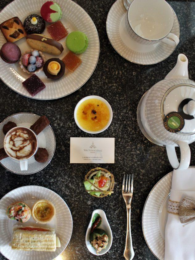 sukhothai lobby salon chocolate buffet pouring hot chocolate table setting