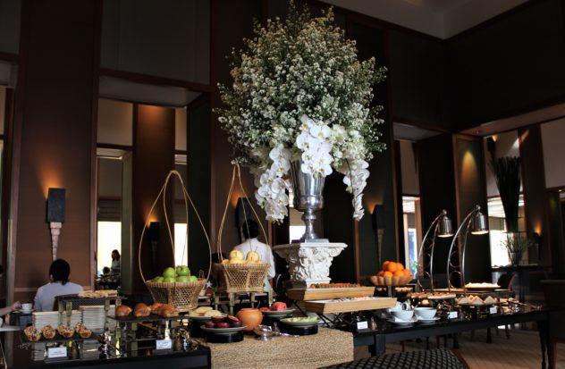 sukhothai lobby salon chocolate buffet savory table