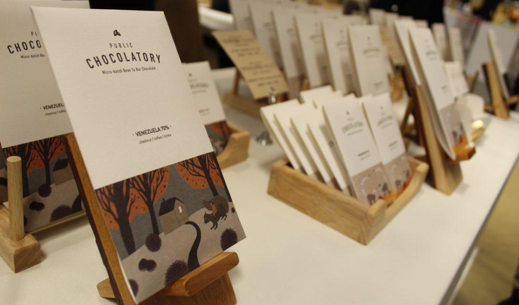 Craft chocolate bars form the Public Chocolatory in Chuncheon, South Korea