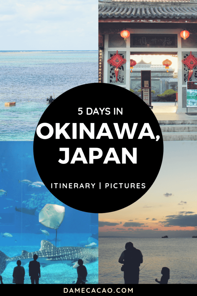 Okinawa itinerary pinterest pin 1