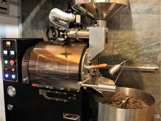 The cacao roaster of Boehnchen bean to bar chocolate in Bangkok, Thailand