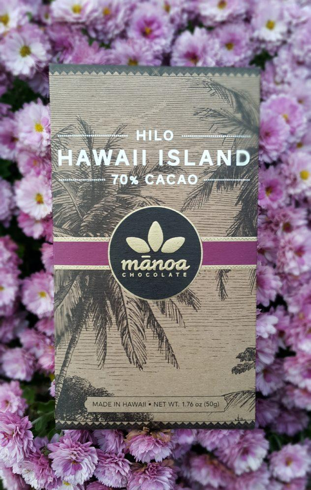 Manoa Hilo Island Chocolate Front of Bar Packaging