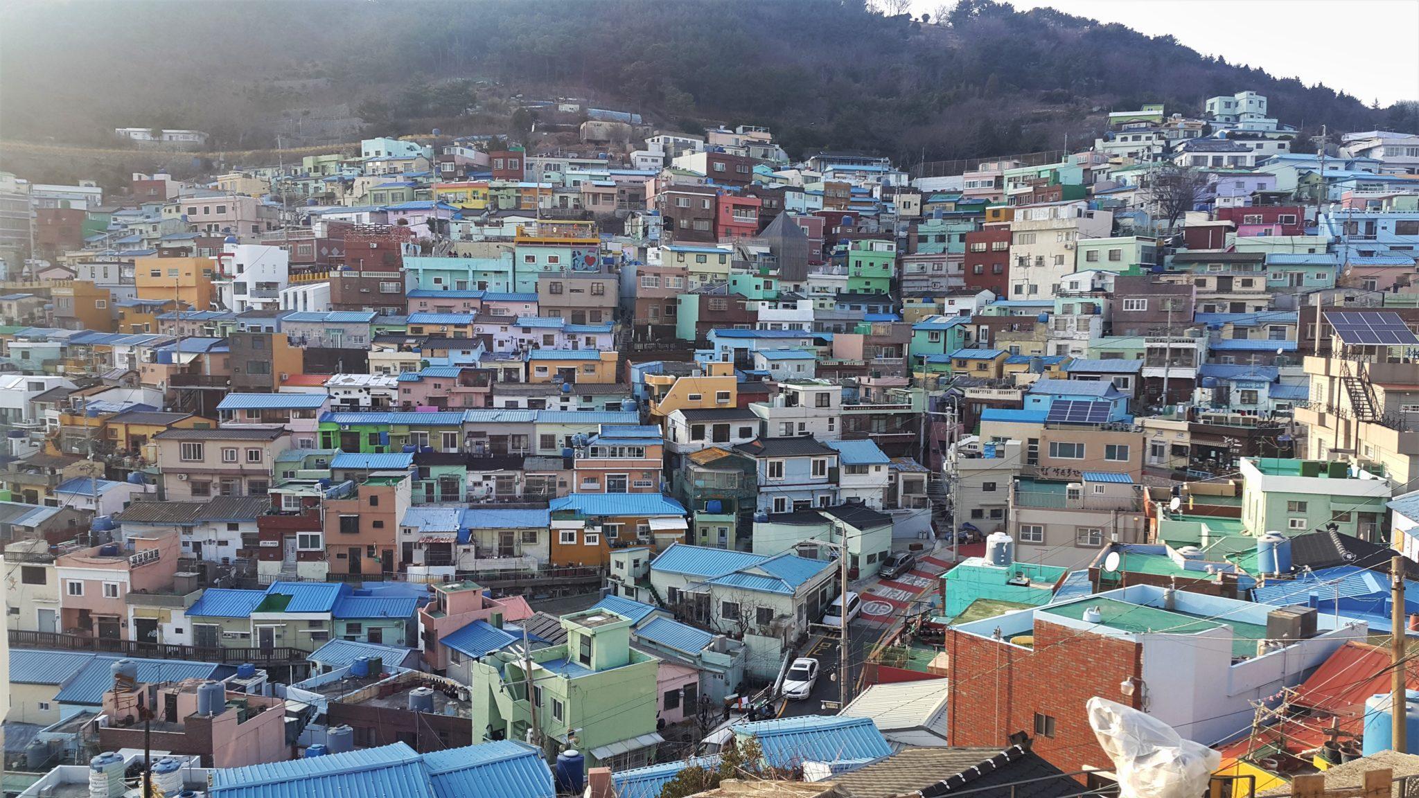 Busan's coastal cultural village.