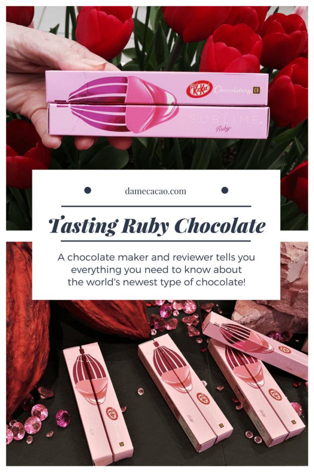 Ruby Chocolate pinterest pin 1