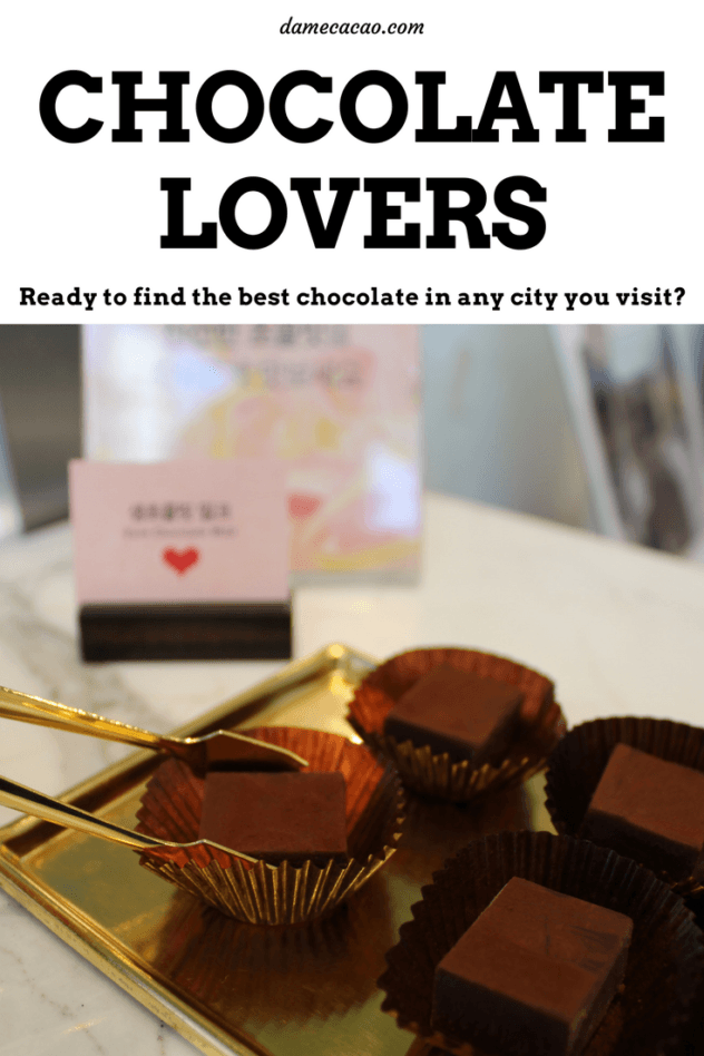 Explore delicious chocolates and where to find them on damecacao.com, where you'll find chocolate city guides, craft chocolate insights, and home chocolate making tips & recipes. Grab a bonbon and explore with me! | #chocolate #chocolat #travel #resources #city #guides #must #see #do #asia #southeast #taiwan #thailand #korea #japan #unique #activity #activities #cuba #beantobar #craft #truffles #bonbons