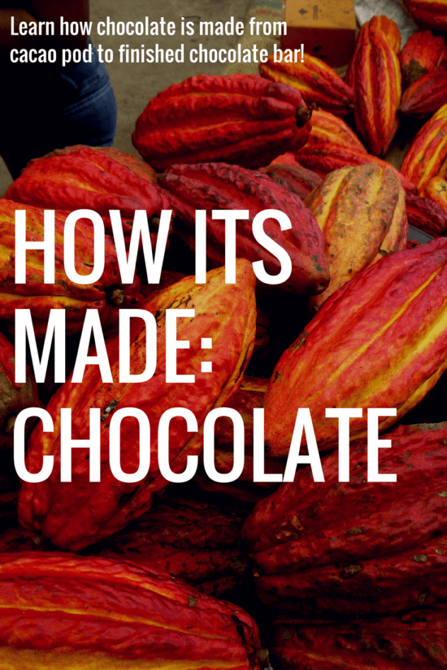Learn alongside a chocolate expert as she walks through the steps of chocolate making, from tree to bean to bar. This is the story of craft chocolate. | #craft #chocolate #chocolat #bean #to #bar #travel #around #the #world #food #foodie #learn #makers #single #origin #guide #how #its #made #experience #tree #cocoa