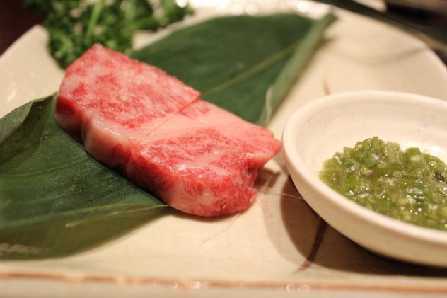 Affordable Kobe beef in Kobe meat closeup
