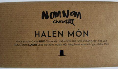 Nomnom Chocolate from Whales Halen Mon Smoked Vietnamese Milk Chocolate Front of Bar Packaging