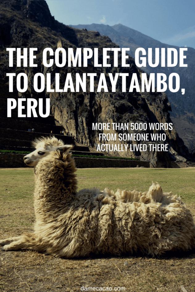 Ollantaytambo itinerary pinterest pin 1