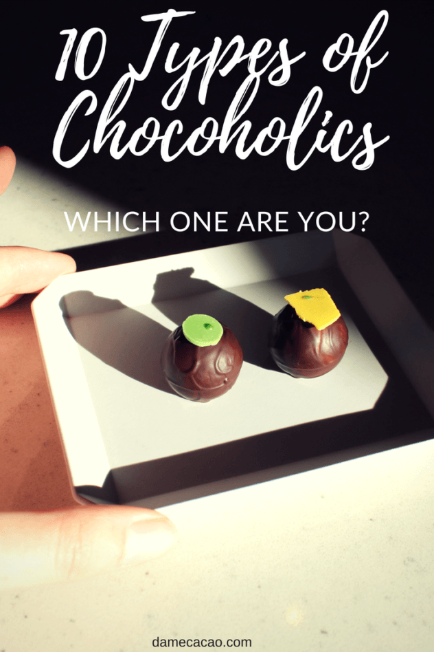 Are your chocolate habits unique? Learn all about the ten types of chocolate lovers you could be, and see which category you fall into! | #chocolate #craft #food #fine #beantobar #chocolat #cocoa #cacao #foodies #local #maker #chocoholic #lover #travel #rtw #types #foodie #hungry