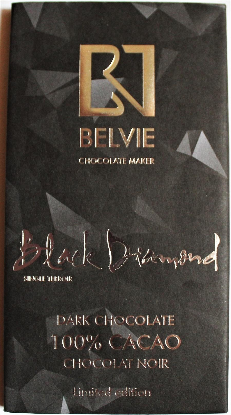 Craft Chocolate Review Belvie 100% Vietnam Front of Bar Packaging