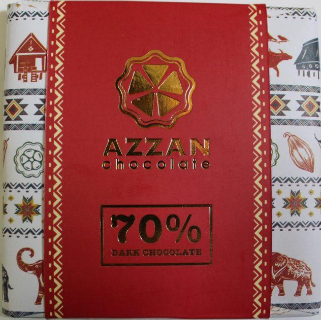 Craft Chocolate Review Azzan 70% Vietnam Front of Bar Packaging