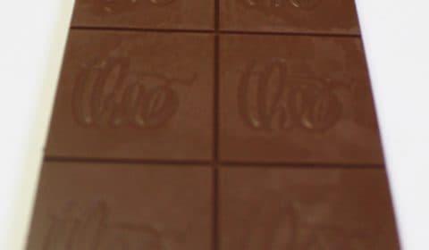 Craft Chocolate Review Theo 45% Lemon Milk Chocolate Front of Bar Closeup