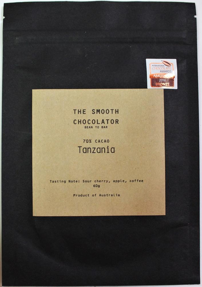 Craft Chocolate Review Smooth Chocolator 70% Tanzania Front of Bar Packaging