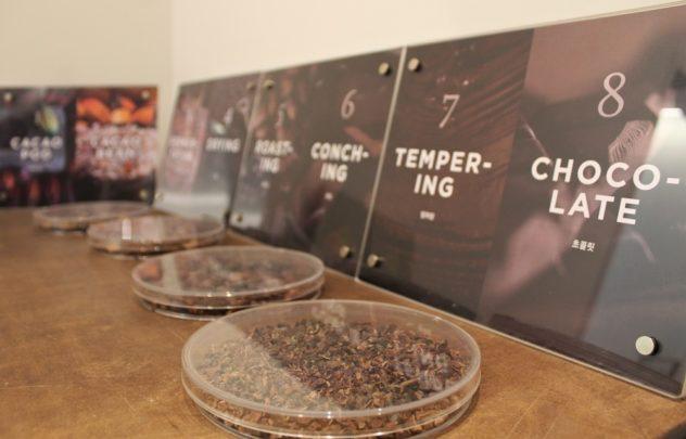 P.Chokko Seoul Cafe chocolate making process