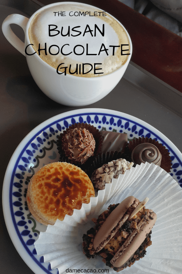 Check out some of the delicious chocolate cafes in Busan, South Korea-- they're all across the city, so you're guaranteed to find one nearby no matter where you go! | #expat #travel #busan #culture #village #chocolate #cacao #cocoa #best #cafes #foodie #foodies #korea #south #eat #cute #seomyeon #haeundae #dala #truffles #bonbons
