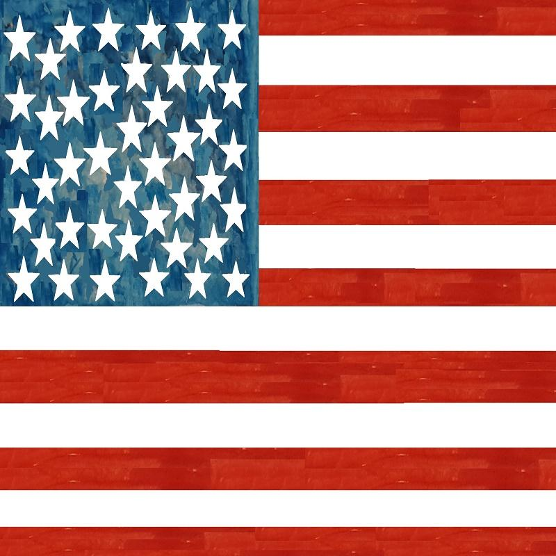 American Flag Square -