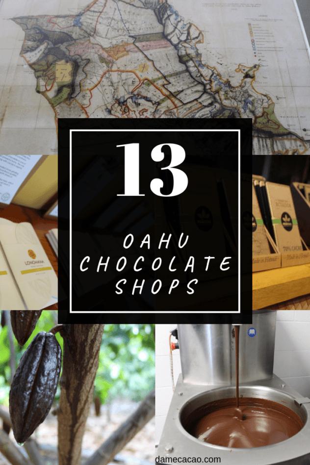 Hawaiian Chocolate: Big Island Cacao Farm Tours & Chocolate Shops pinterest pin 4 with various farm photos
