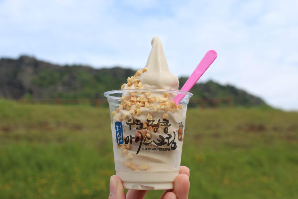 Udos famous peanut ice cream | #travel #korea #jeju #island #itinerary #food #foodie