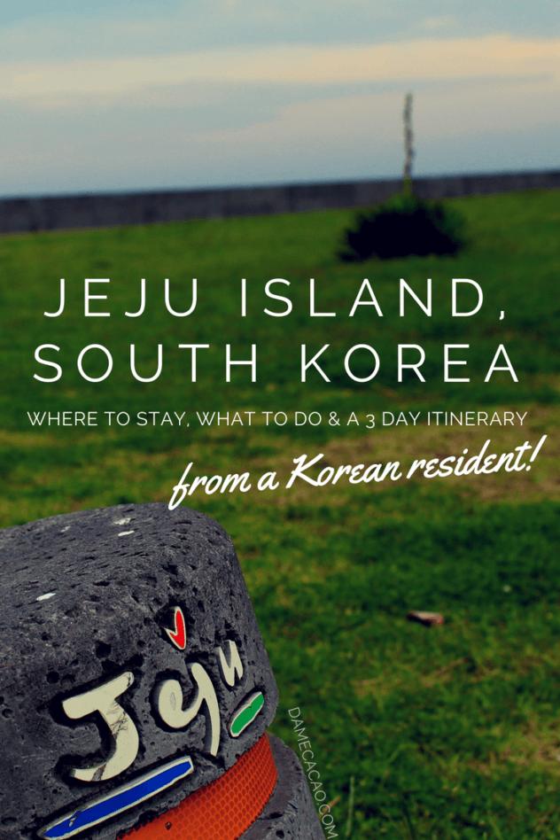 Jeju Island pinterest pin 1
