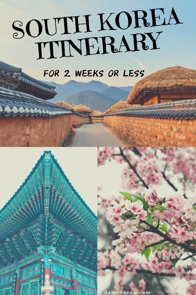 Korea Itinerary pinterest pin 1