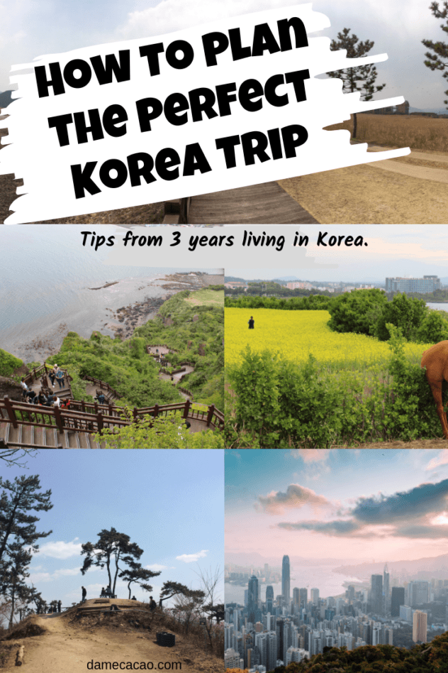 Korea Itinerary pinterest pin 4