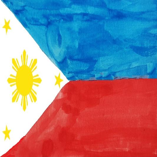 Philippines Flag Square -