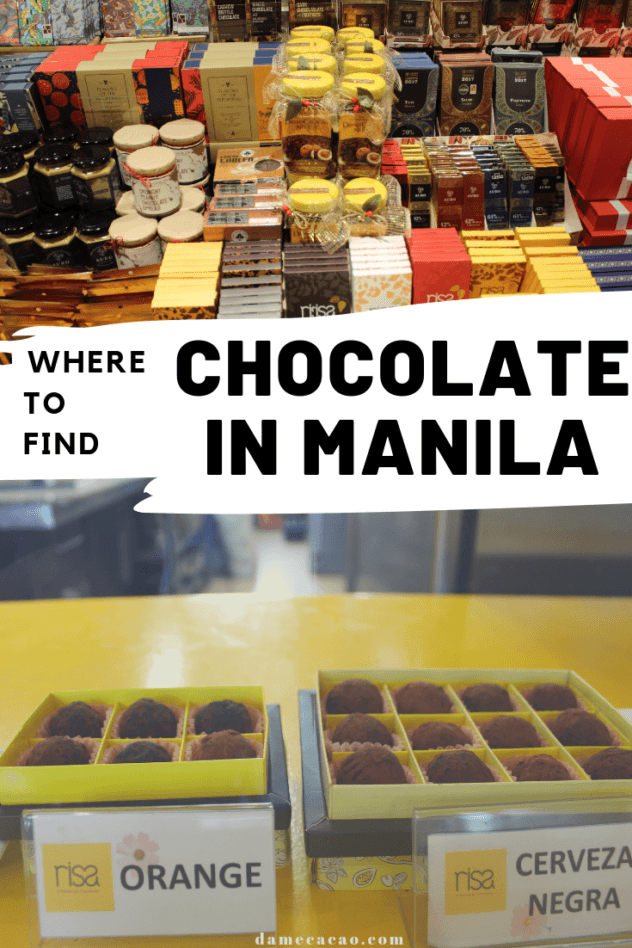 Manila Chocolate pinterest pin 1