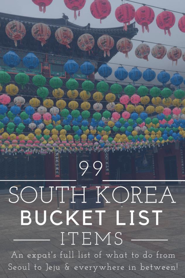 Korea bucket list pinterest pin 1