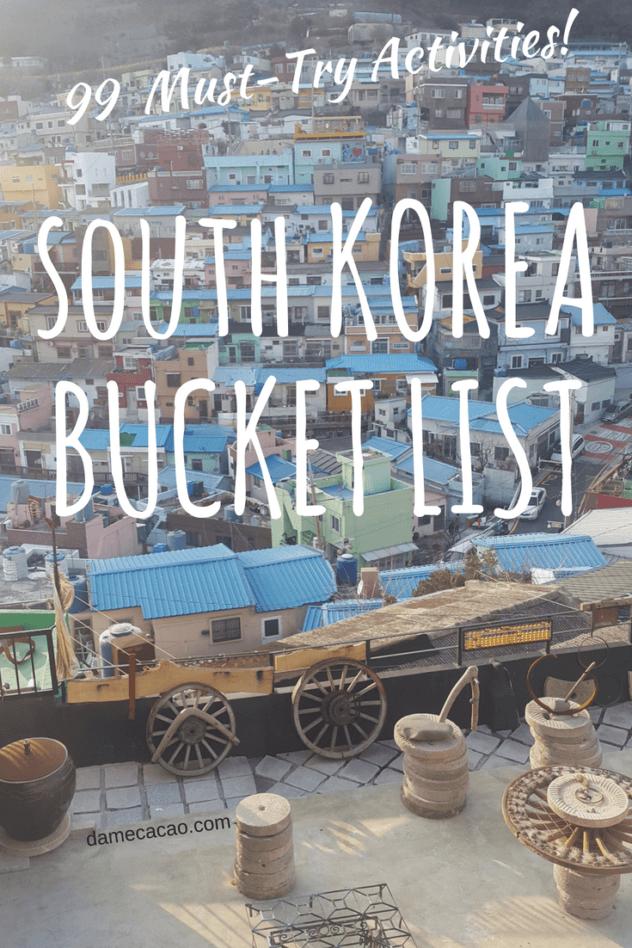 Korea bucket list pinterest pin 2