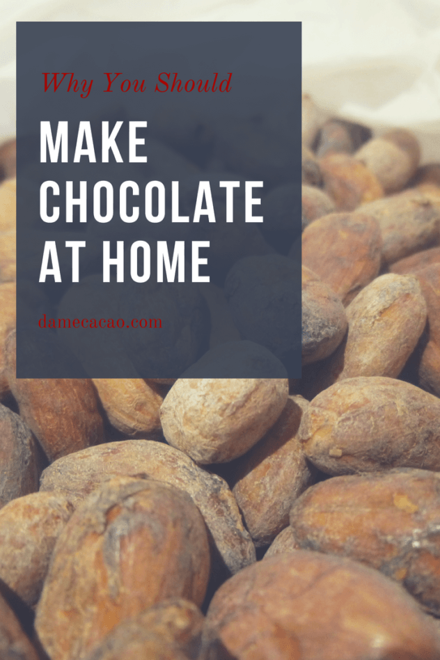 When considering potential hobbies, chocolate making rarely comes to mind, but why not? It's fun and interesting, plus you get to eat the results!   #chocolate #chocolat #make #at #home #making #bean #to #bar #beantobar #craft #homemade #hobbies #DIY #made