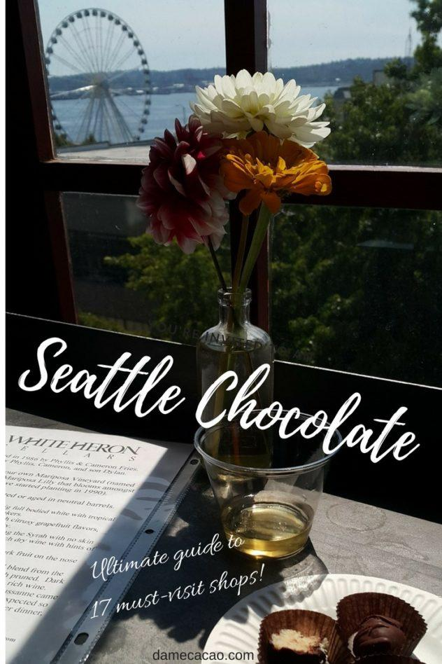 From melty chocolate truffles to full-blown chocolate factories, check out 17 can't-miss chocolate stops in Seattle, Washington. | #chocolate #chocolat #guide #craft #bean #to #ar #wine #beantobar #seattle #foodie #foodies #america #travel #truffles #chocolatiers #cafes