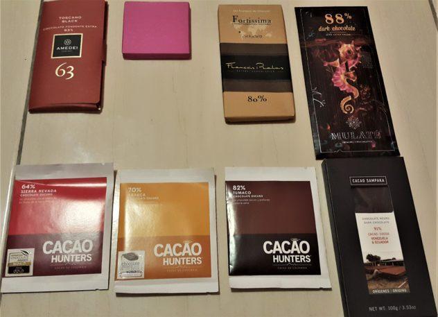 8 bars of chocolate pralus cacao hunters amadei