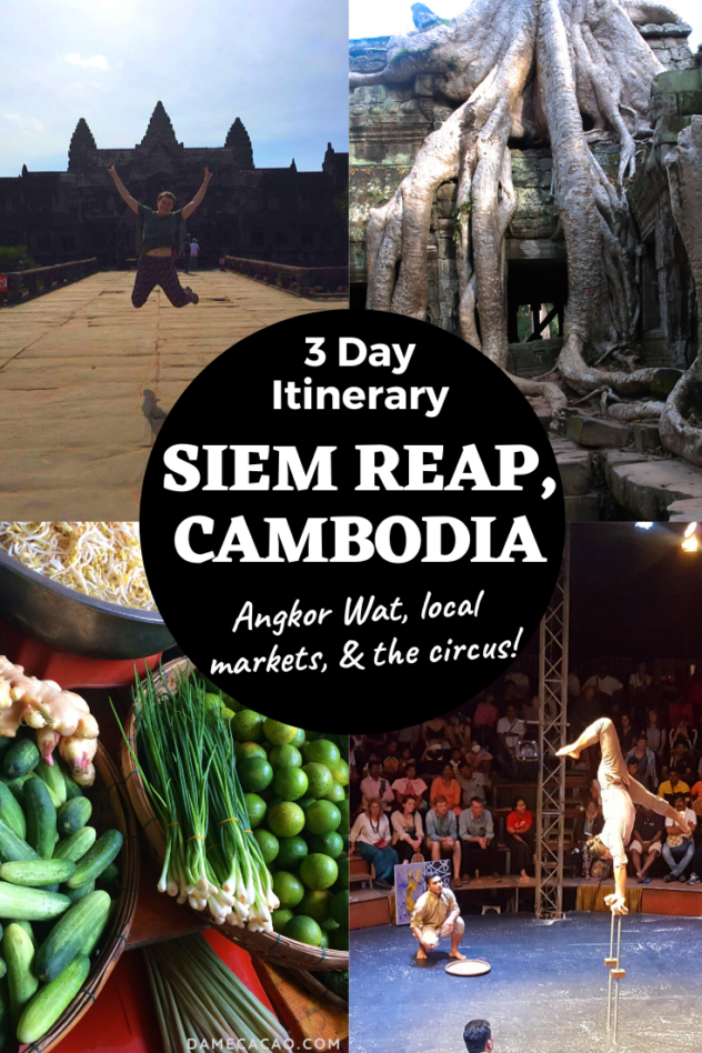 Siem Reap itinerary pinterest pin 1