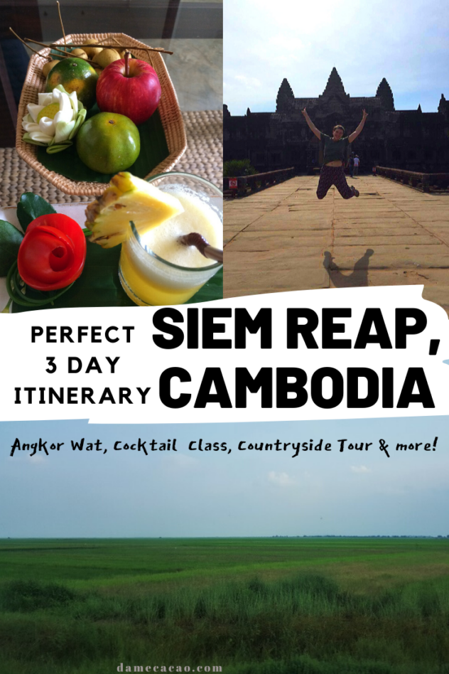 Siem Reap itinerary pinterest pin 2
