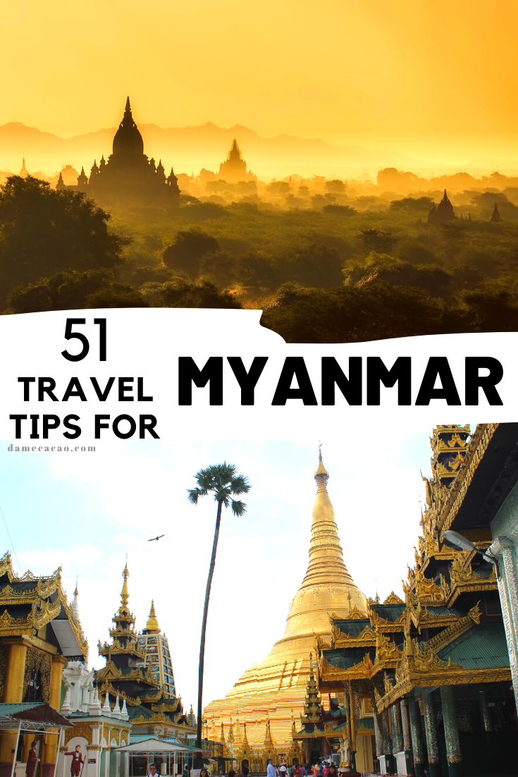 Myanmar Travel Tips pinterest pin 1