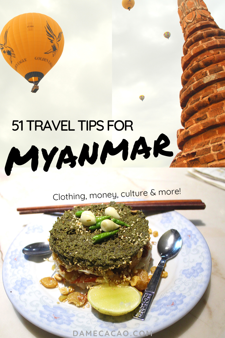 Myanmar Travel Tips pinterest pin 2